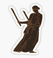 Ancient Greek Female Warrior Sticker