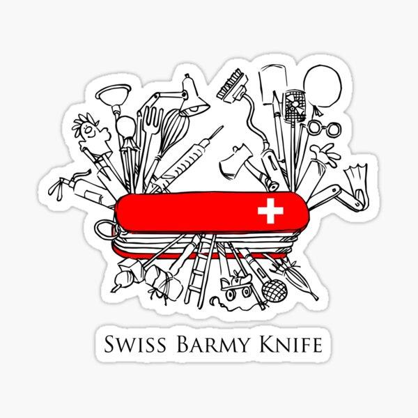 Swiss Barmy Knife Sticker