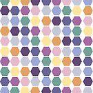 Berry coloured hexagon duvet by goanna