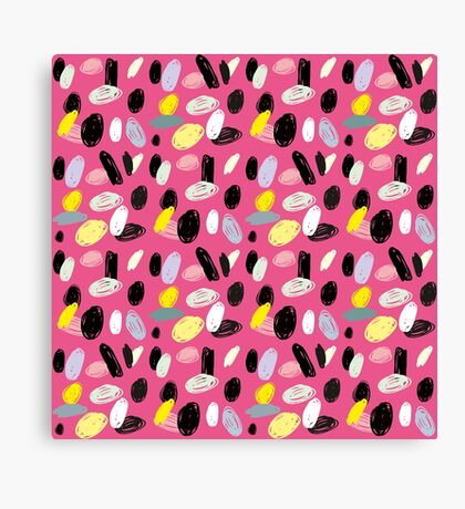 Pink Sea Shore Canvas Print