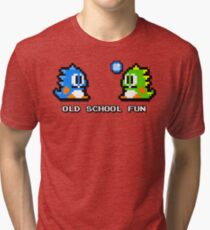 Old School Fun - Bubble Bobble - Bub und Bob - Arcade Fun + Retro Love Vintage T-Shirt