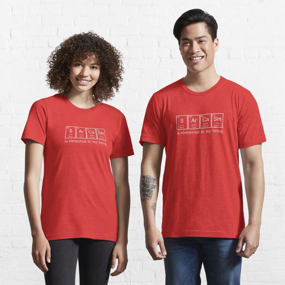 T-shirt essentiel «Éléments du sarcasme»