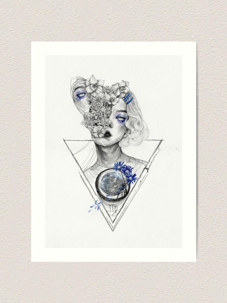 Alternate view of Virgo Art Print