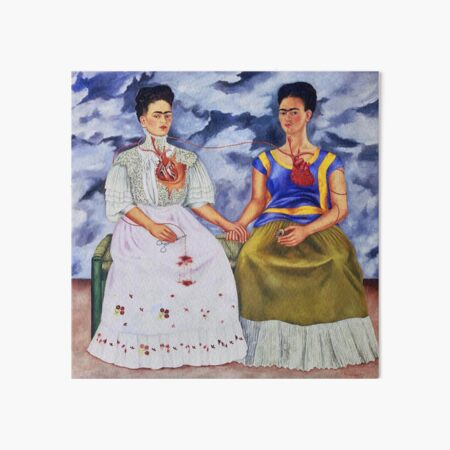 The Two Fridas by Frida Kahlo Art Board Print