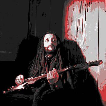 Alborosie with Guitar by destron
