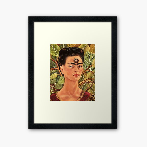 Thinking About Death by Frida Kahlo Framed Art Print