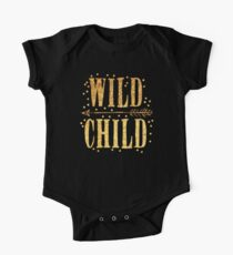WILD CHILD in gold foil (image) One Piece - Short Sleeve