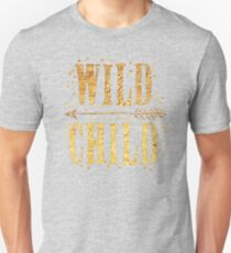 WILD CHILD in gold foil (image) T-Shirt
