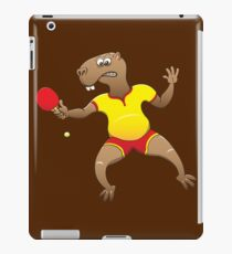 Capybara playing table tennis iPad Case/Skin