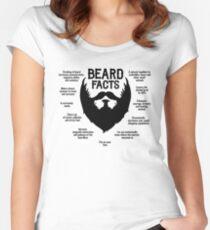 Beard Facts (black) Women's Fitted Scoop T-Shirt