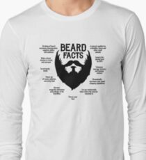 Beard Facts (black) Long Sleeve T-Shirt