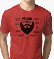 Beard Facts (black) Tri-blend T-Shirt
