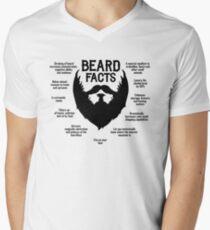 Beard Facts (black) Men's V-Neck T-Shirt