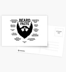 Beard Facts (black) Postcards