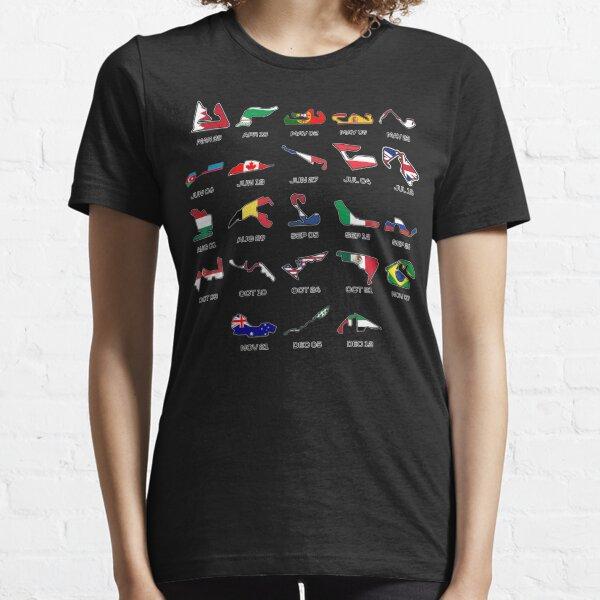2021 F1 Calendar Essential T-Shirt