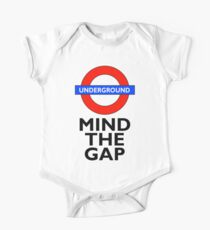 TUBE, London, Underground, Mind the gap, BRITISH, BRITAIN, UK, English, on WHITE One Piece - Short Sleeve