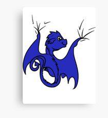 Blue Dragon Rider Canvas Print