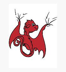 Red Dragon Rider Photographic Print