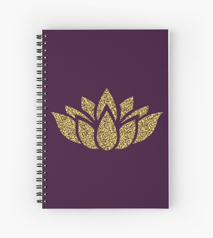 Goldglitter Lotusblume von limitlezz