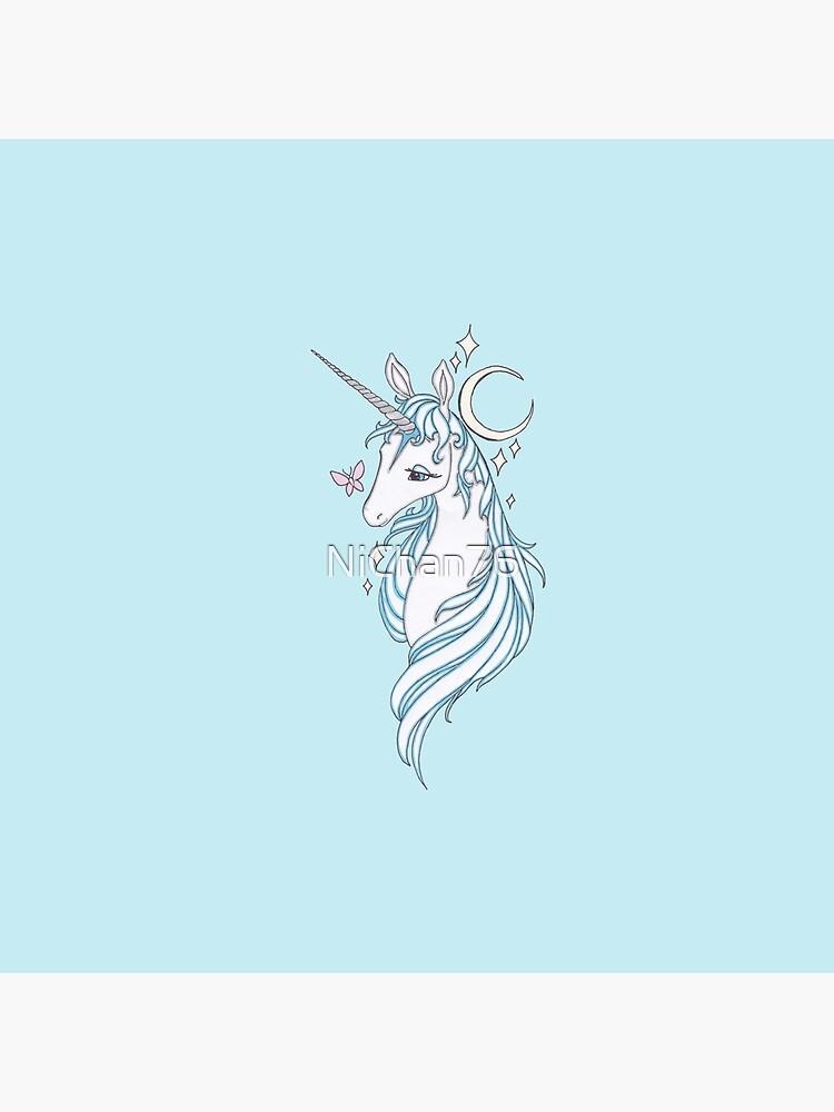 The Last Unicorn Drawing by NiChan76