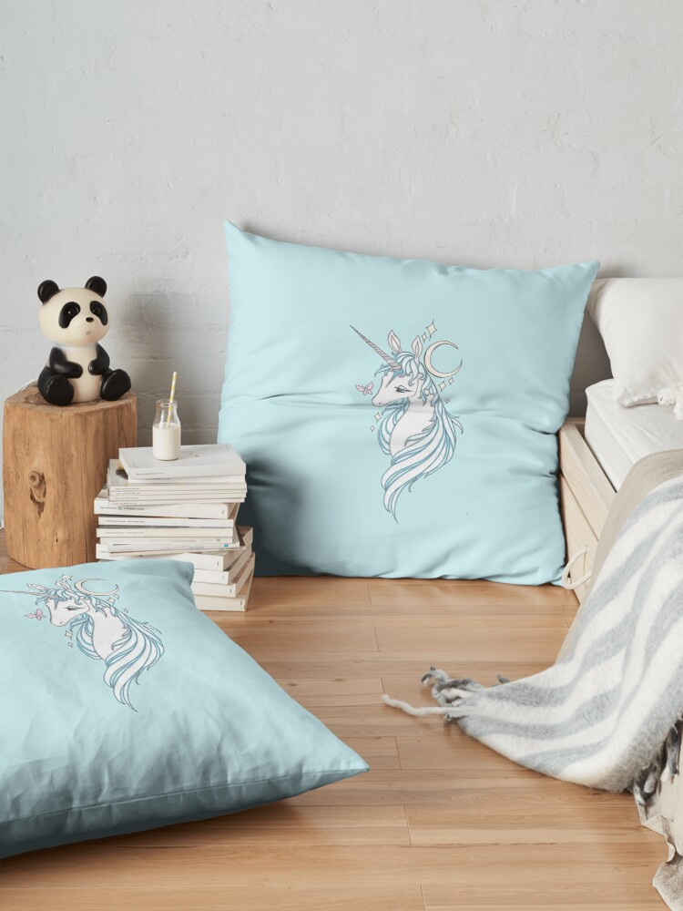 Alternate view of The Last Unicorn Drawing Floor Pillow