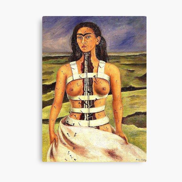 The Broken Column by Frida Kahlo Canvas Print