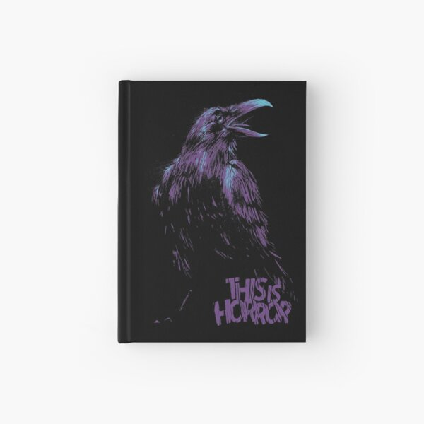 This Is Horror Classic Purple on Black Raven Hardcover Journal