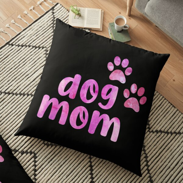 Dog mom Dont Buy Adopt I love dogs Watercolor watercolour dog pink Floor Pillow