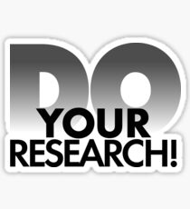 Do Your Research! Sticker