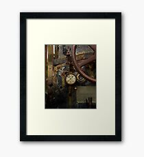Rusty controls Framed Print
