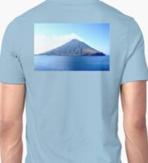 VOLCANO, Volcanic, Active Volcano, Stromboli, Eruption, Italy, from the sea Unisex T-Shirt