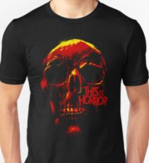 This Is Horror Classic Red on Black Skull Unisex T-Shirt
