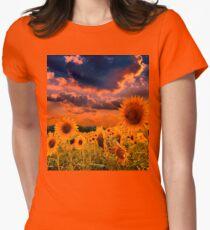 Sunflowers Field  Women's Fitted T-Shirt