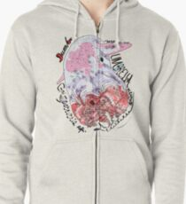 Dumbo Octopus, Grimpoteuthis sp. Zipped Hoodie