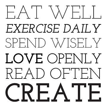 """""""Eat, Love, Create"""" Manifesto by sjrollings"""