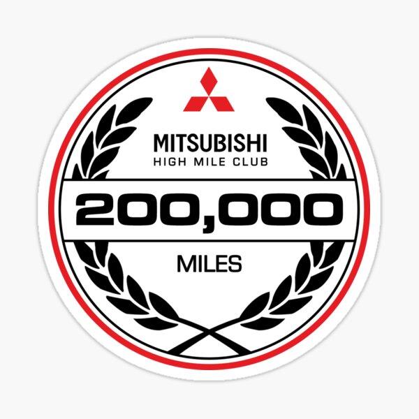 Mitsubishi 200,000 Miles High Mileage Club Sticker