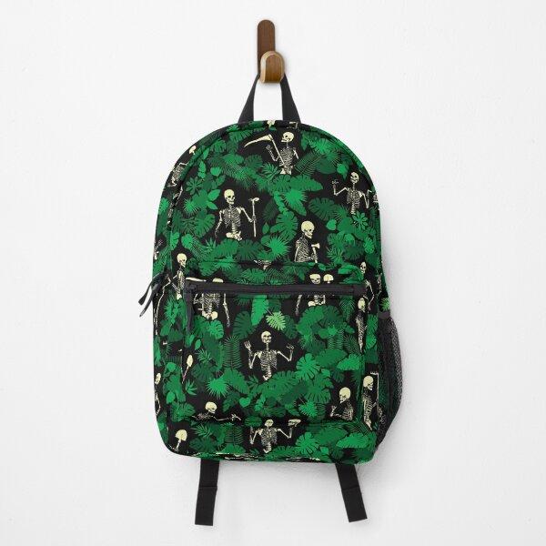 Garden Of Lost Souls Goth Gardener Skeleton Pattern Backpack
