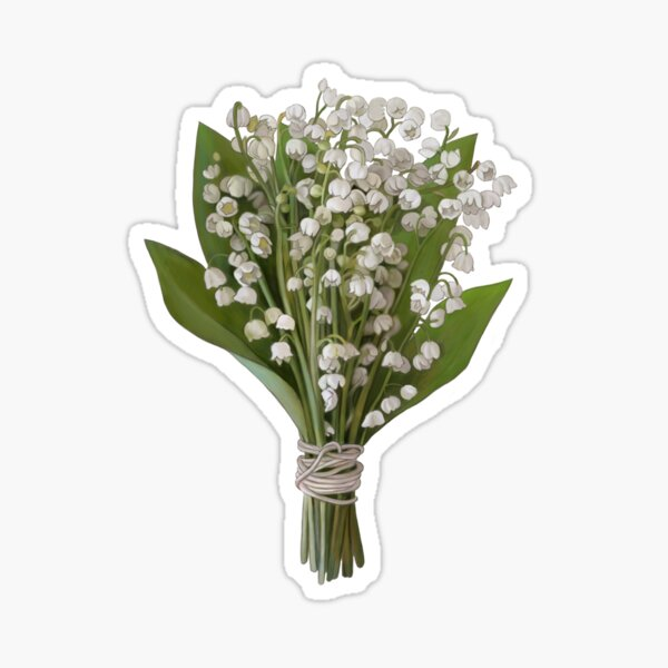 Lily of the valley bouquet Sticker
