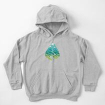 The Road Goes Ever On: Summer Kids Pullover Hoodie