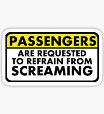 Passengers are Requested: Original Sticker