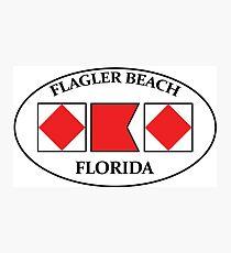 FLAGLER BEACH FLORIDA FL FLA Nautical Flag EURO Oval FBF Photographic Print