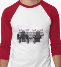 Lego Star Wars Stormtroopers Group Picture Minifigure Men's Baseball ¾ T-Shirt