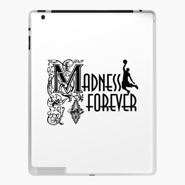 Madness Forever Basketball Player Typography Design iPad Skin