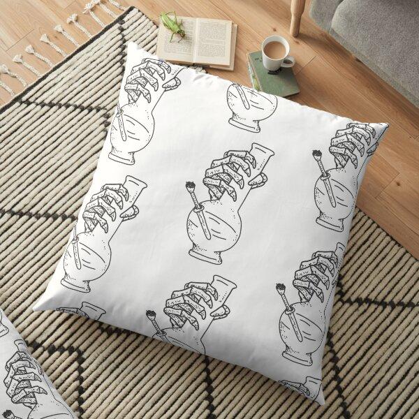 Skeleton holding a bong  Floor Pillow
