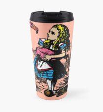 Flamingo Croquet Travel Mug
