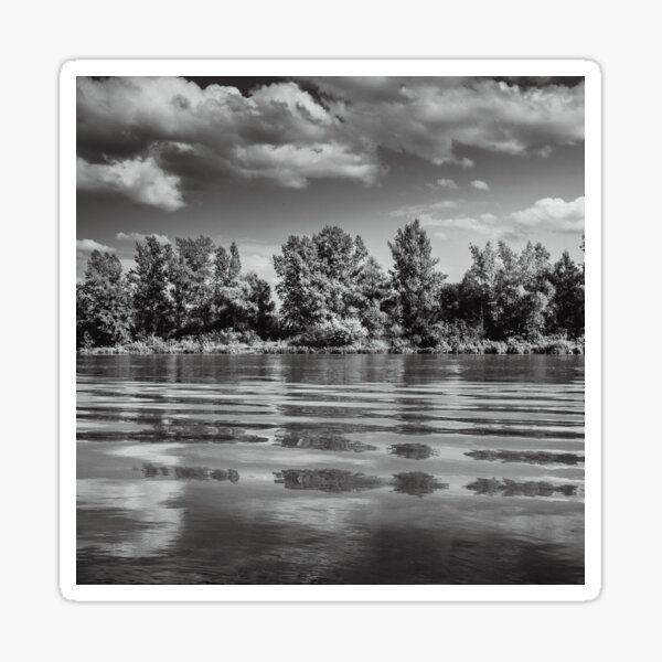 Black and white landscape photography Krakow, Przylasek Rusiecki Sticker