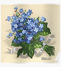 Forget-me-not - acrylic Poster