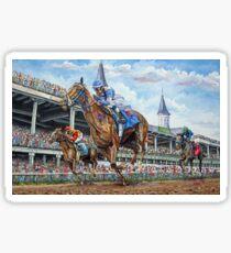 Kentucky Derby - Down the Stretch Sticker