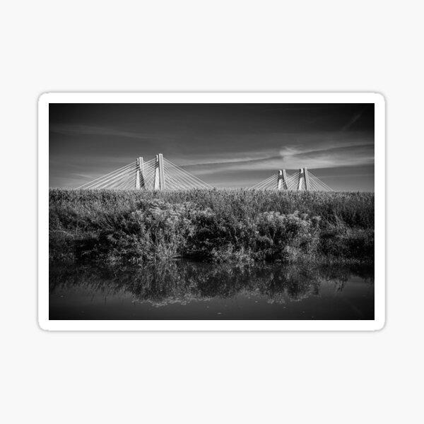 Vistula River Krakow Nature black and white photography Sticker