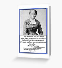 AACEA Inc. Tribute - Harriet Tubman  Greeting Card